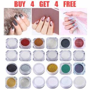 bf908fb93ea8e Details about Nail Art Mirror Powder Holographic Sequins Glitter Dust  Chrome Pigment