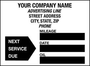 Details About Custom Oil Change Stickers 1000 Roll Design A