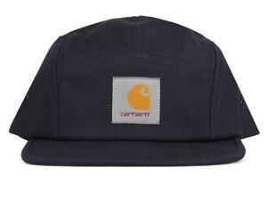 834b1c9612e30 Carhartt Wip Backley 5 Panel Watch Hat Dark Blue Logo Cap Streetwear ...