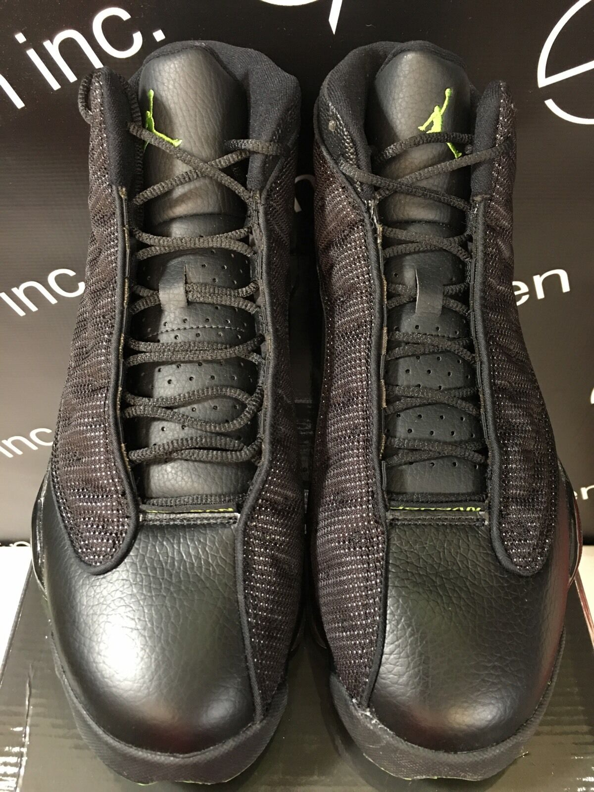 Authentic Nike Air Jordan 13 XIII Altitude Black Altitude Green Size 10.5