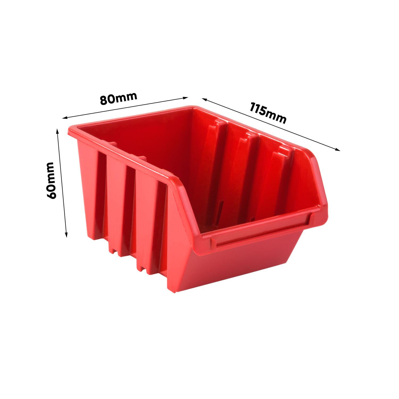 Stapelboxen Wandregal Box Sichtlagerkästen Schüttenregal Lagersystem 101 Boxen