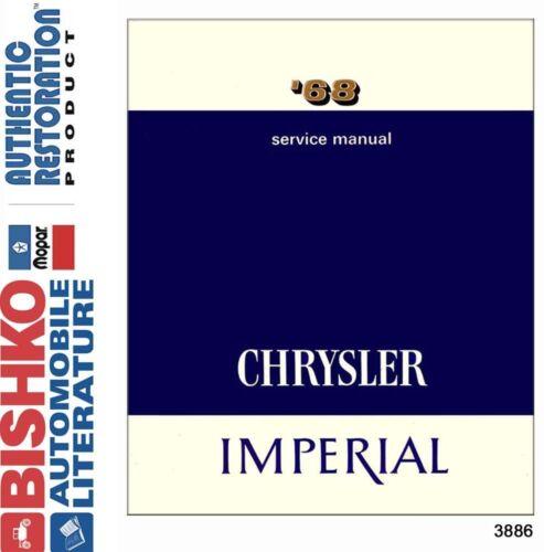 1968 Chrysler Shop Service Repair Manual CD Engine Drivetrain Electrical OEM