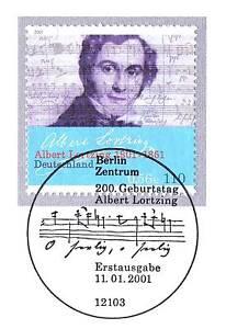 BRD-2001-Albert-Lortzing-Nr-2163-mit-dem-Berliner-Ersttags-Sonderstempel-1A
