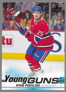 2019-20 Upper Deck Young Guns Ryan Poehling Rookie # 226 NM/MT RC