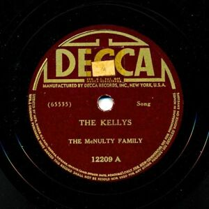 The-McNULTY-FAMILY-on-1939-Decca-12209-The-Kellys-McDonnell-s-Old-Tin-Roof