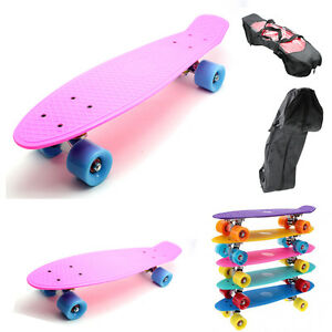 MONOPATIN-PATINETE-RETRO-TIPO-PENNY-SKATE-CON-FUNDA-COLOR-ROSA
