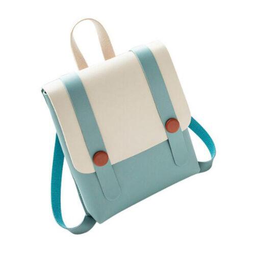 Fashion Women PU Leather Backpack Girls School Student Rucksack Travel Bag MA