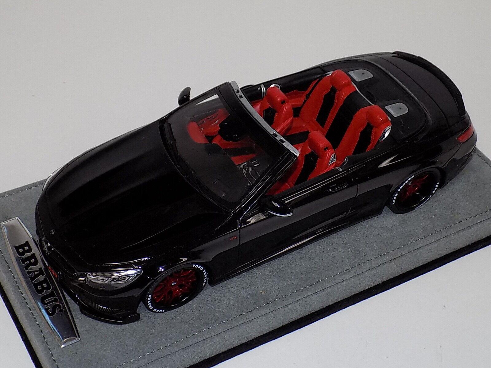 1 18 GT Spirit Mercedes Benz BRABUS 850 S Classe Cabriolet Noir GT194 personnalisé