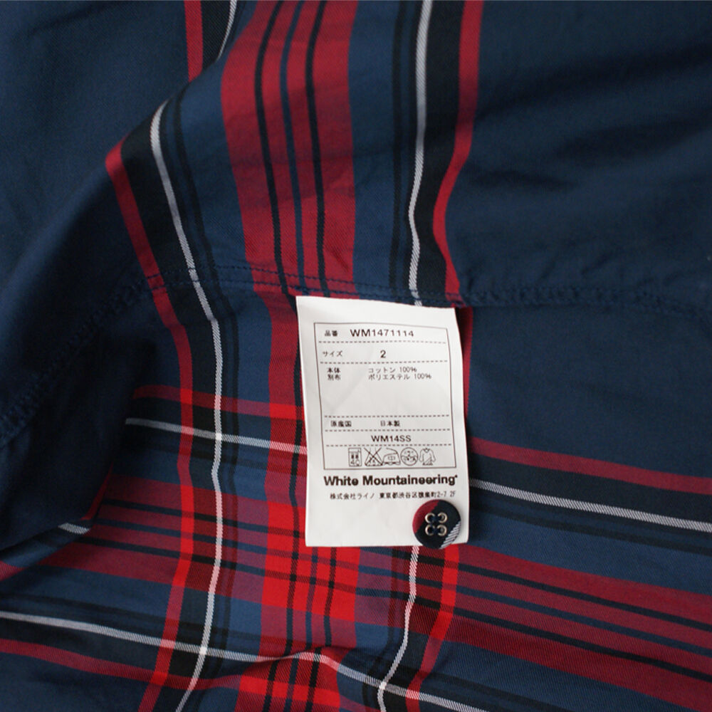 NUOVO bianca Mountaineering Navy & Rosso A Righe Shirt Shirt Shirt Originale prezzo consigliato   BNWT 481471