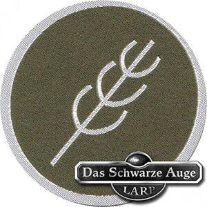 Aufnaeher-Patch-Aufkleber-gewebt-DSA-10-Peraine-8cm-gruen-silber