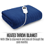 thumbnail 3 - Electric Heated Throw Blanket Indoor Outdoor Winter Plush Washable Rug 200x180cm