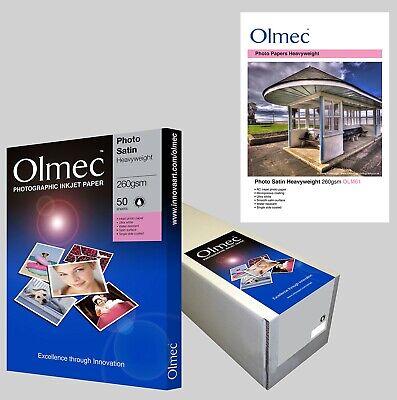2 x Olmec 260gsm Photo Satin Inkjet Paper A4//50 Sheets OLM61A4-100 sheets A4