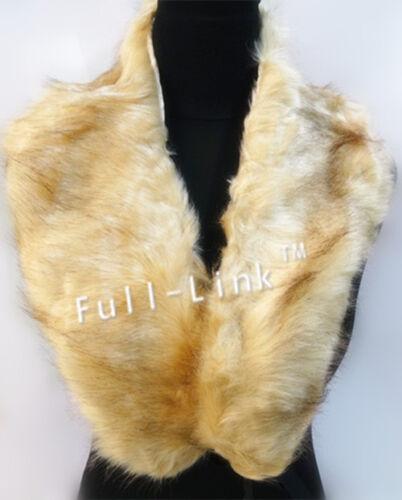 Women Ladies Fashion Faux Fur Collar Scarf Fluffy Winter Shawl Wrap Stole Scarfs