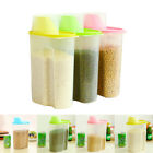Plastic Container Box Kitchen Food Cereal Grain Bean Rice Storage Measuring Cup