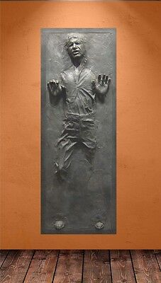 """Han Solo in Carbonite Life-Size Poster (29"""" W x 79"""" H)-TV MOVIES-FREE U.S. SHIP"""