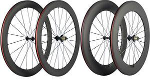60-88mm-Bicycle-Wheels-Full-Carbon-Fiber-Wheelset-Road-Bike-Matte-Shimano-Campy