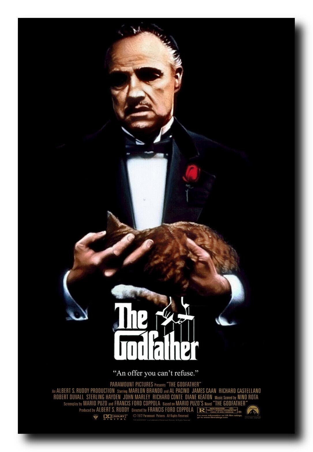 The Godfather Al Pacino Marlon Brando Classic Movie Poster 30 24x36in Y-394