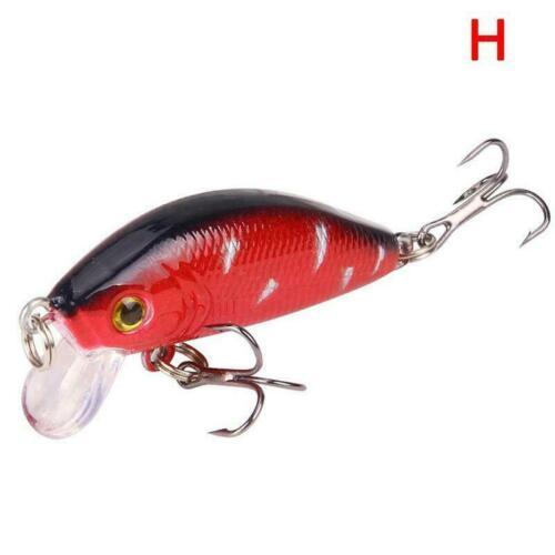 1Pc Fishing Lures Crank Bait Hooks Bass Crankbaits Tackle Sinking Swimbait L2U8
