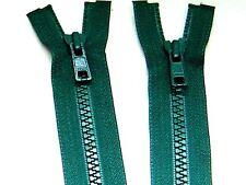 "YKK Zipper 26"" Green #6 Molded Plastic Teeth Separating Bottom Metal Puller #Z59"