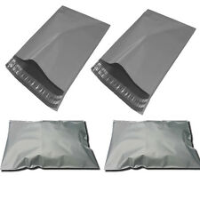 """200 X Strong Grey Plastic Mailing Post Poly Postage Bags with Self Seal 10 x12"""""""