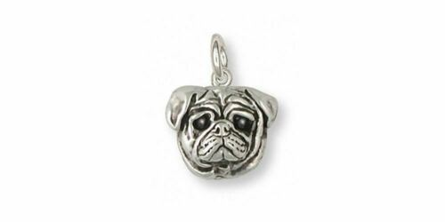 Pug Charm Jewelry Sterling Silver Handmade Dog Charm DG6-C