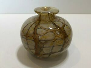 Art-Glass-Vase-Unsigned-4-1-4-034-Tall-5-034-Widest-Weight-is-2-Lbs