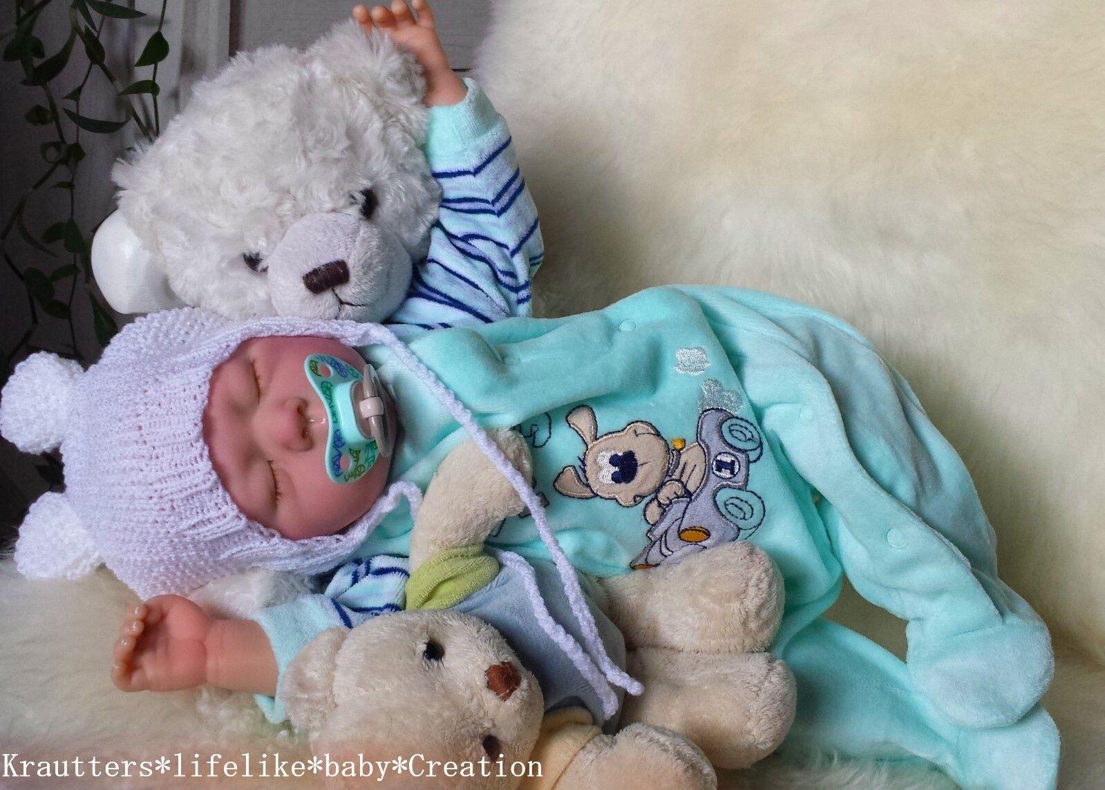 ✨♥Reborn Reallife Oster Baby Boy BS von U.L Krautter Babypuppe Künstlerpuppe♥✨