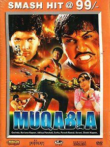 Image Is Loading MUQABLA 1993 GOVINDA KARISMA KAPOOR BOLLYWOOD HINDI DVD