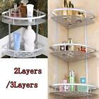 Matte Triangular Shower Caddy Bathroom Wall Corner Rack Storage Organizer Holder
