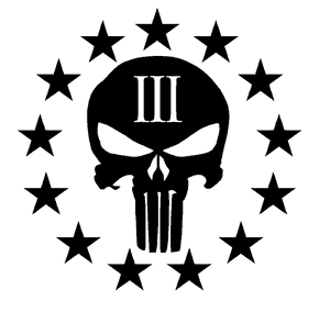 Stencil-Cerakote-Duracoat-Airbrush-Paint-Punisher-3-Three-Percenter-Gun-Rights