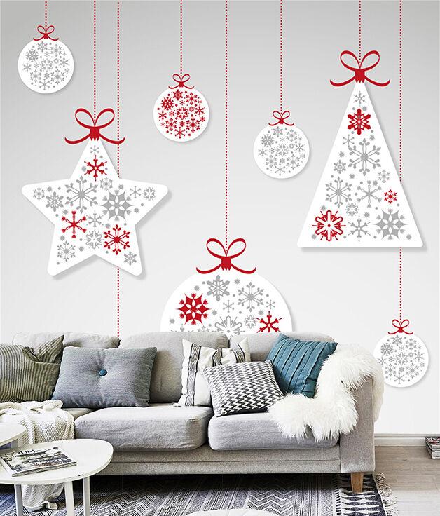 3D Weihnachten Weiß Dekor 33 Fototapeten Wandbild BildTapete Familie DE