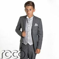 Boys Grey Suit, Page Boy Suits, Prom Suits, Boys Wedding Suit, Silver Waistcoat