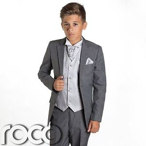 Boys Grey Suit, Page Boy Suits, Prom Suits, Boys Wedding Suit ...