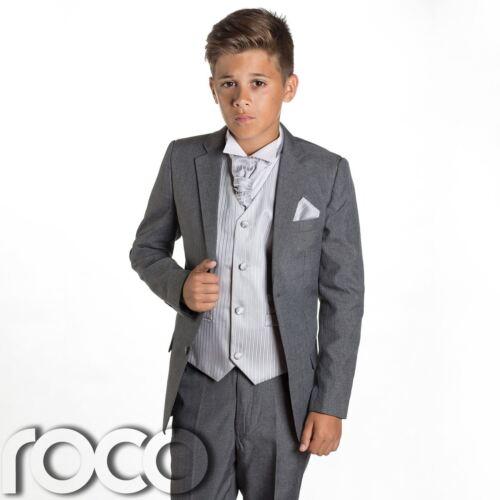 Boys Wedding Suit Prom Suits Boys Grey Suit Page Boy Suits Silver Waistcoat