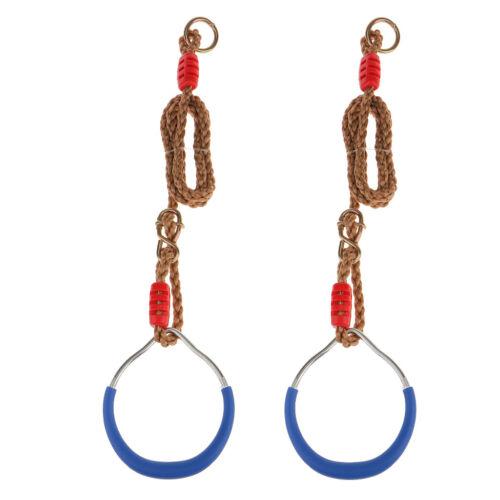 L/'anello di ginnastica di ferro di 2pcs incunea gli inarcamenti l/'azzurro di
