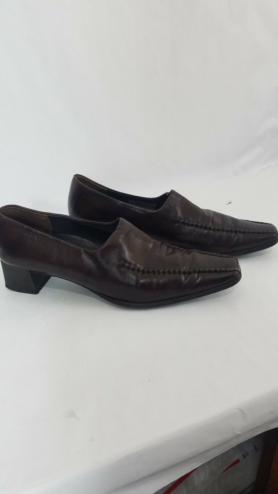 PAUL GREEN Munchen Mens Brown Handmade Leather Loafers Sz 7