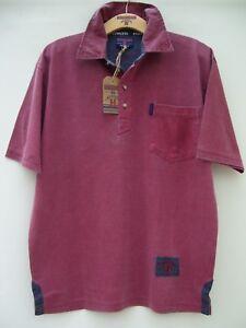 maniche Rosso a cotone Edwards in m Ed04 lavato S corte Heavies Maglia tqRE8w5H