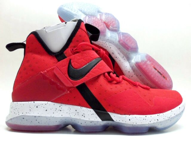 77b4a5c5140d Nike Lebron 14 XIV Mens 852405-600 University Red Black Basketball Shoes  Size 11