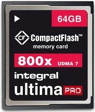 Integral 64GB 800X Speed Ultima-Pro UDMA 7 High Speed Compact Flash Card.