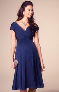 8ec10848c4ee Image is loading Tiffany-Rose-Maternity-Dress-Alessandra-Dress-Short-Navy