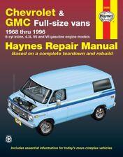 Haynes Repair Manual 24080 Chevrolet GMC Full Size Van 1968 Thru 1996