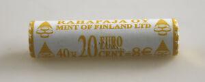 KMS Série de Monnaie Légale Rouleau 20 Cent Finlande 2002 non Ouvert Rôle la Vue