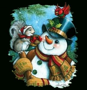 Snowman-Shirt-Frosty-Winter-Scene-Christmas-Blouse-Holiday-Clothing-Sm-5X