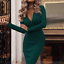 Women-V-Neck-Midi-Dress-Autumn-Winter-Long-Sleeve-Knit-Bodycon-Sweater-Jumper thumbnail 7