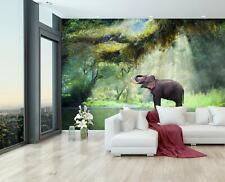 Vlies Tapete XXL Poster Fototapete Nilpferde Wildnis