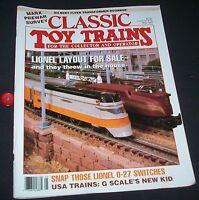 Classic Toy Trains Magazine May 1993 Lionel Layout Marx Prewar Survey
