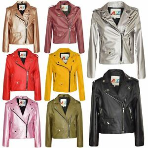 93f72bfe9 Kids Jackets Girls Designer's PU Leather Jacket Zip Up Biker Coats 5 ...