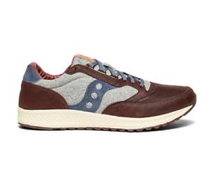 Saucony-Herren-Freiheit-Runner-Freizeitschuhe-Sneakers-in-braun-grau-blau-Waehle-Groesse