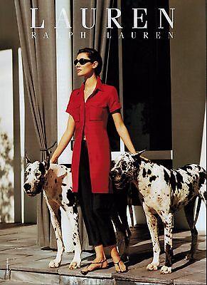 2000 RALPH LAUREN  : DOGS  Magazine Print AD