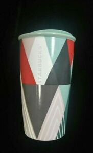 Geometric About Art X165 Details Mug 12 Travel Starbucks Cup New Rare Oz Ceramic Insulated Ifm6bYyv7g